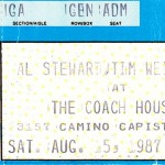 Coach House Ticket Stub 1987