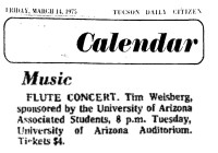 Flute Concert 1975