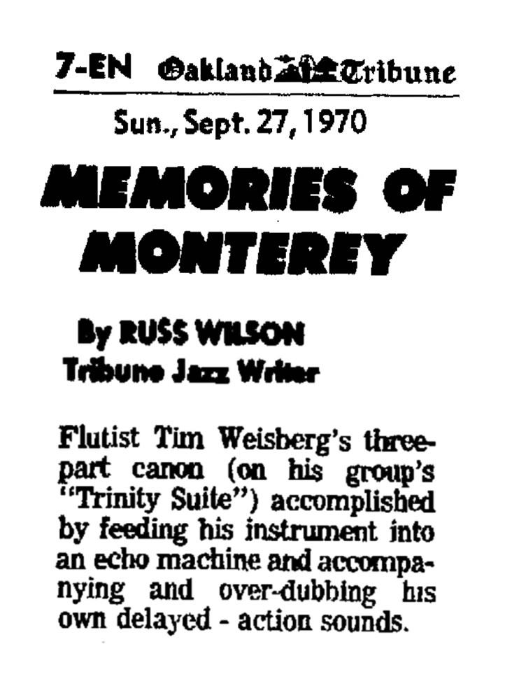 Memories on Monterey 1970