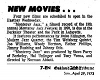 Monterey Jazz Movie 1973