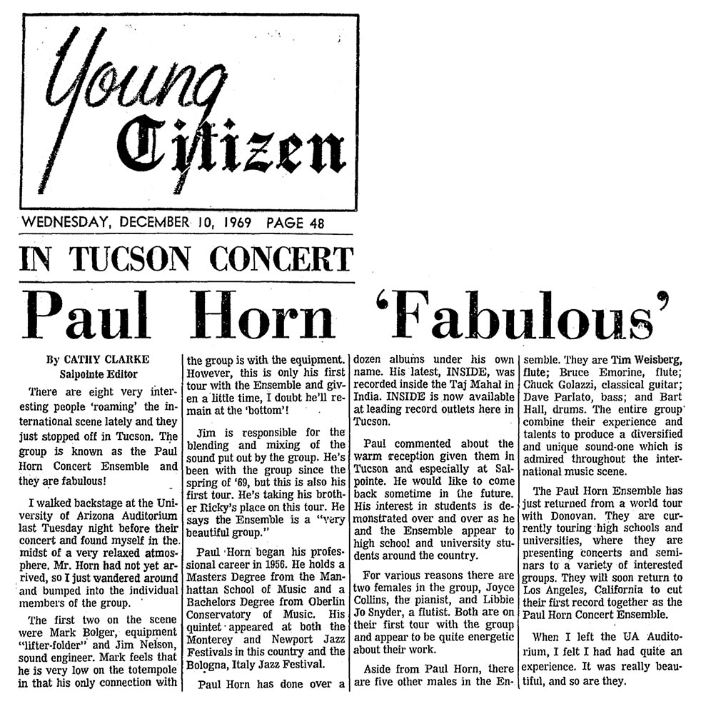 Paul Horn Fabulous 1969
