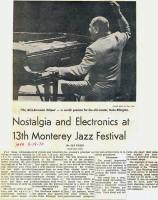 Tim Weisberg Monterey Jazz Festival 1970