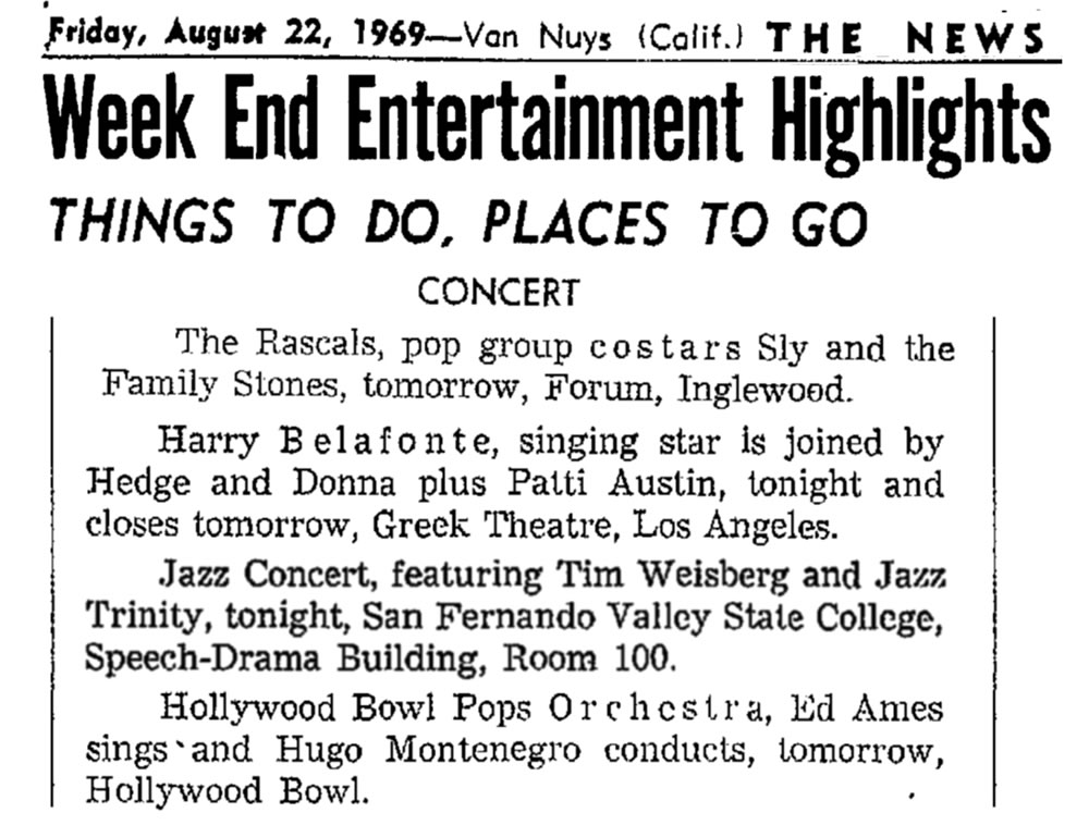 Weekend Highlights 1969