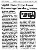 Weisberg Nelson 1975