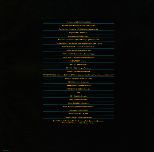 Rotations Album Back Cover