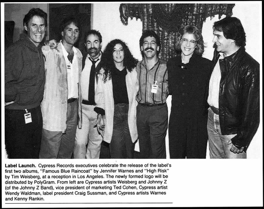 Cypress Records launch 1985