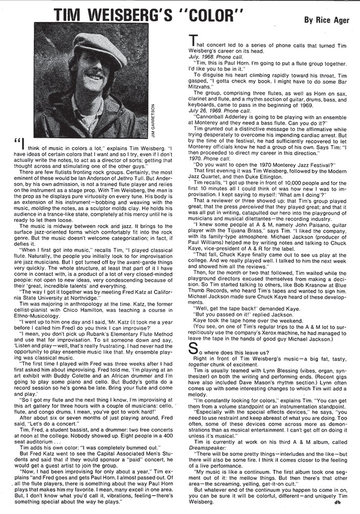 Downbeat Magazine 1973