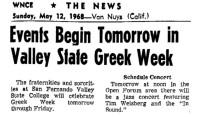 Events Begin Tomorrow 1968