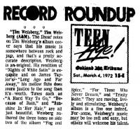 Record Roundup 1972