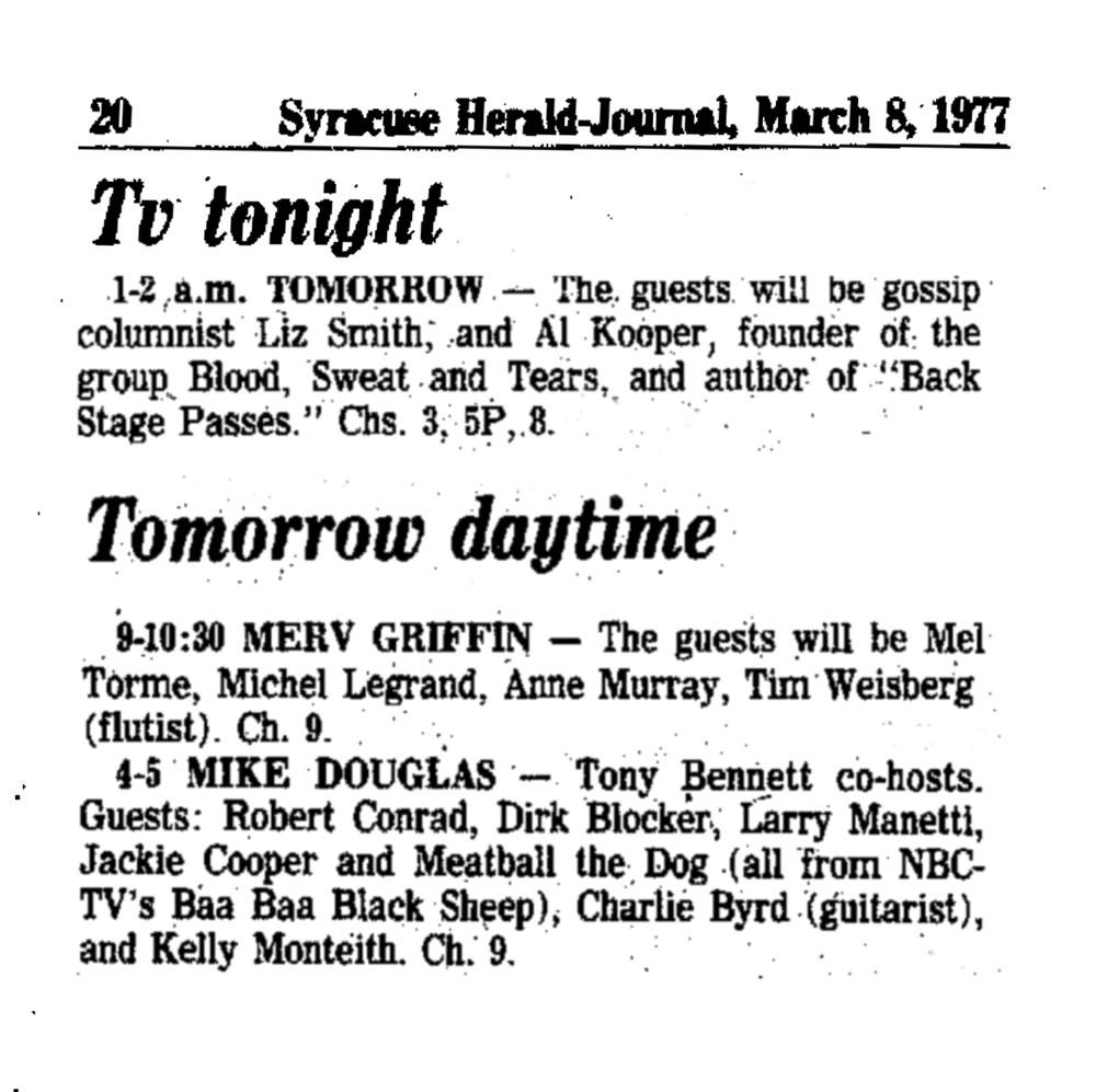TV Tonight 1975