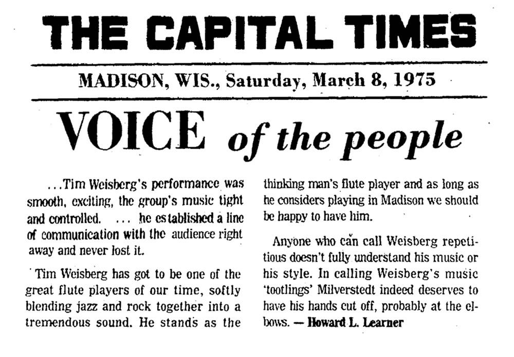 Tim Weisberg Editorial