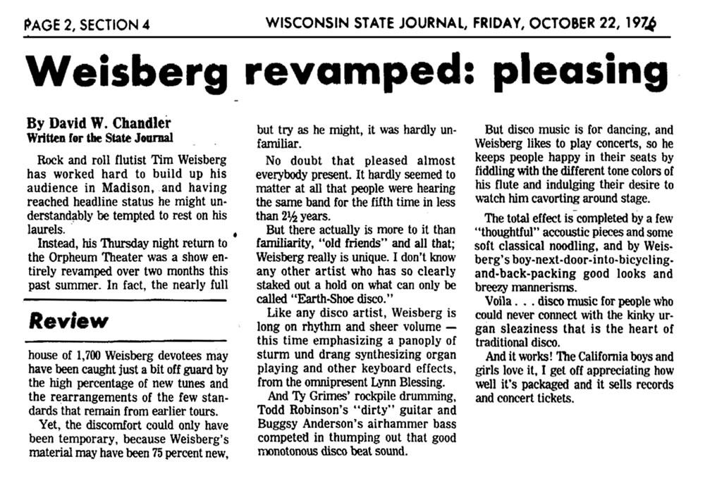 Weisberg Revamped 1975