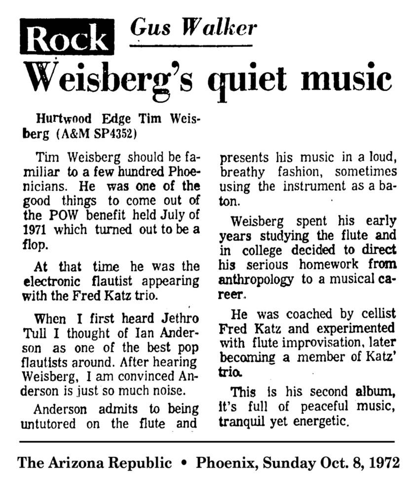 Weisberg's Quiet Music 1973