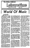 World of Music 1972