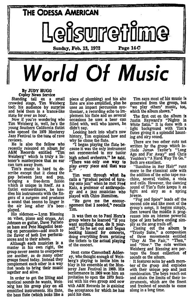World of Music 1972